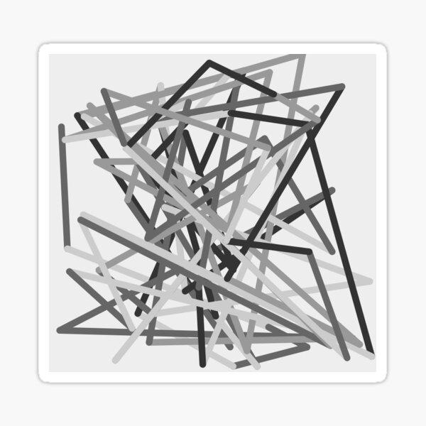 Gray Zigzag Sticker