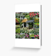 Wishing Well - Colourful Keukenhof Collage Greeting Card