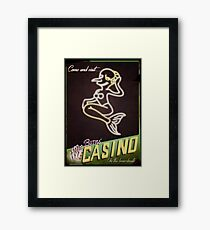 Mr Burns' Casino Framed Print
