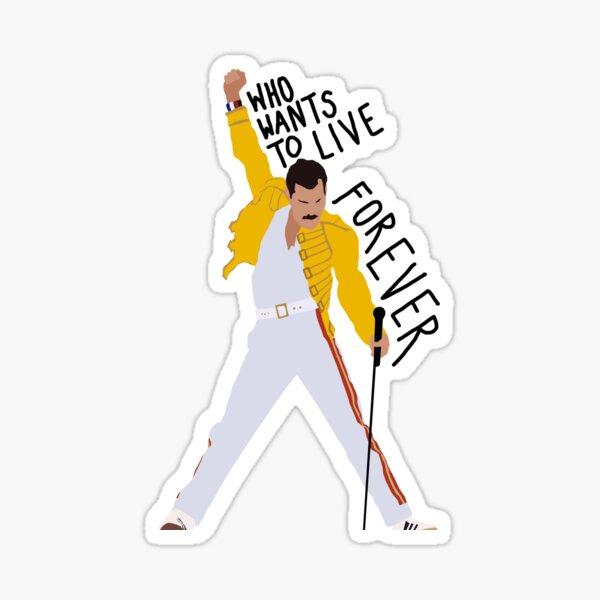 Freddie Mercury quotation Sticker