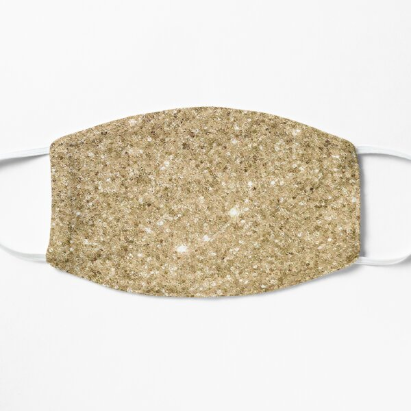 Glitter Gold Sparkle  Flat Mask