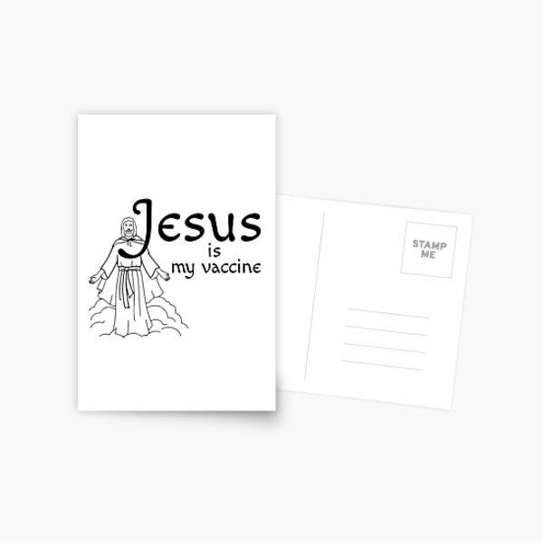 Jesus Is My Vaccine Postcard