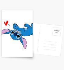 Postales Stitch Loves All