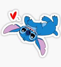 Stitch Loves All Sticker