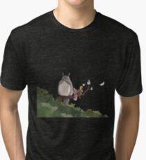Totoro Forest Theme Tri-blend T-Shirt