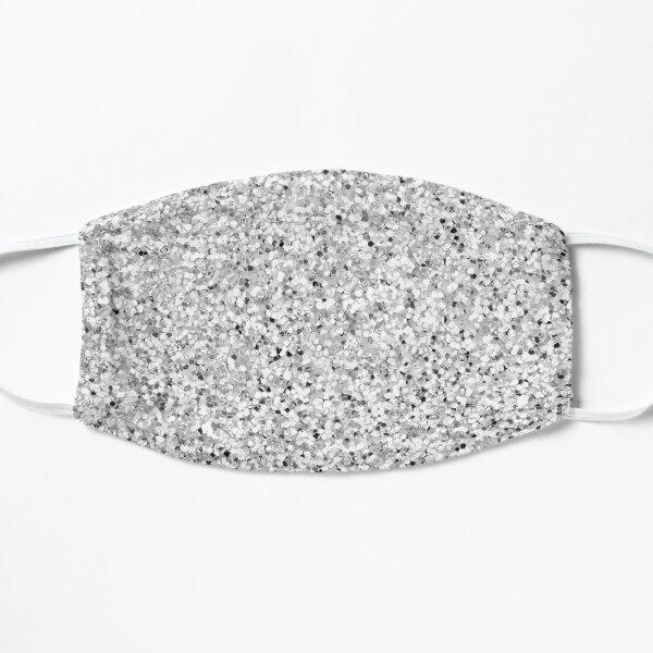 Glitter Silver Sparkle Flat Mask