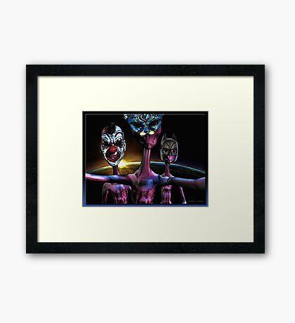 Alien Masquerade Framed Print