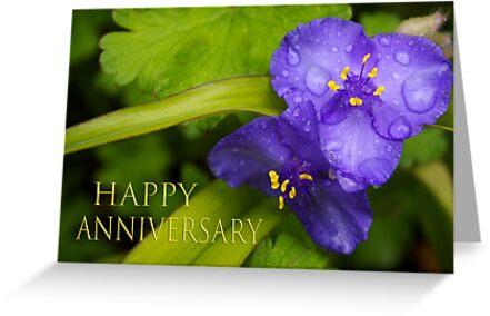 pretty blue pair anniversary card by dedmanshootn