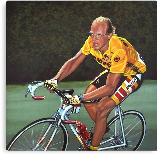 Laurent Fignon Painting by PaulMeijering