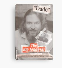 The Big Lebowski Tabloid Metal Print