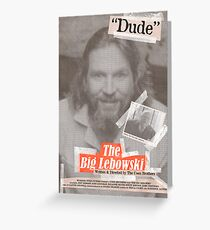 The Big Lebowski Tabloid Greeting Card