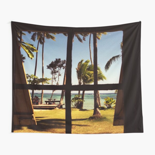Tropical Fiji Beach Scene Tapestry