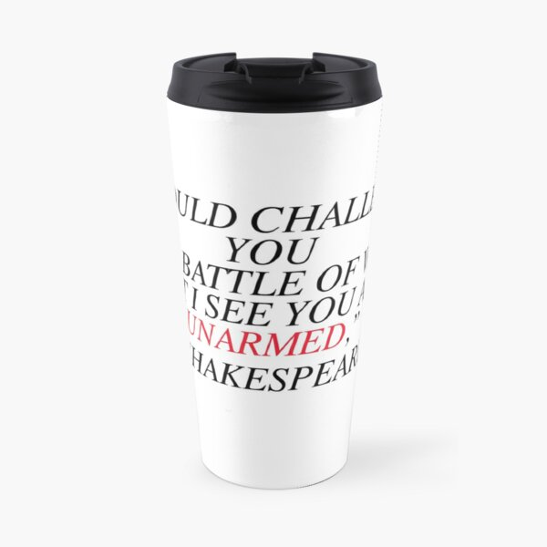 Shakespeare-Battle of Wits Travel Mug