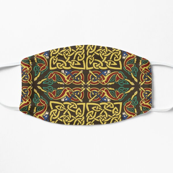 Gold Knotwork Squares and Hounds Border Flat Mask