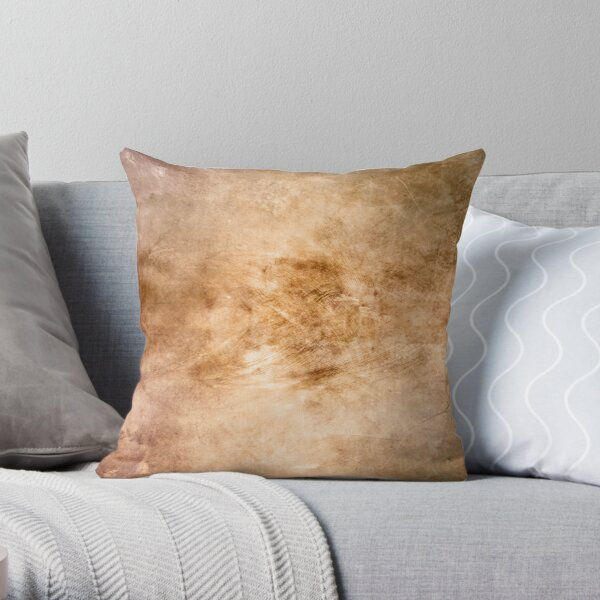Light bronze grunge texture Throw Pillow