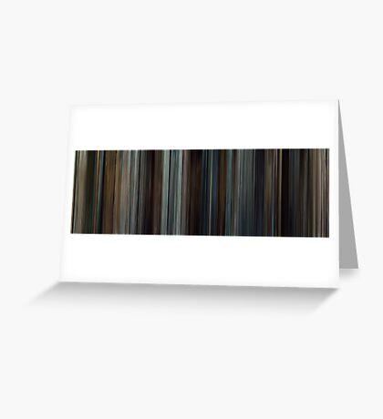 Moviebarcode: Taken (2008) Greeting Card