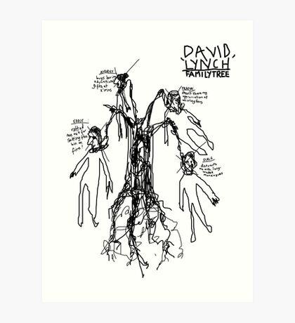 'David Lynch Family Tree' Art Print