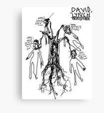 'David Lynch Family Tree' Canvas Print