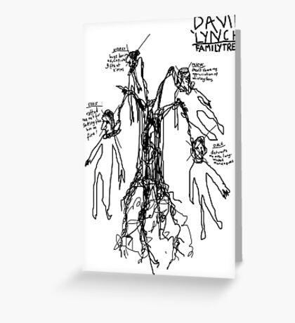 'David Lynch Family Tree' Greeting Card