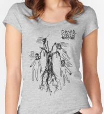 'David Lynch Family Tree' Women's Fitted Scoop T-Shirt