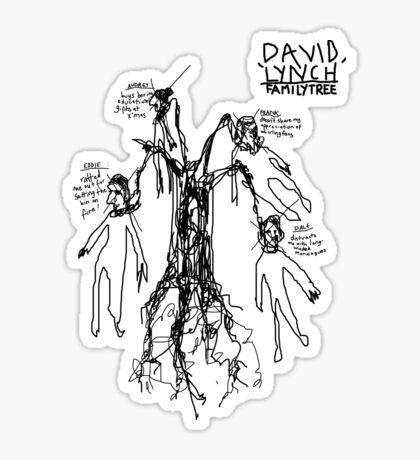 'David Lynch Family Tree' Sticker