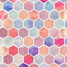 Watercolour Hexagons by Crystal Potter