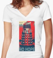 No Hope Dalek Women's Fitted V-Neck T-Shirt