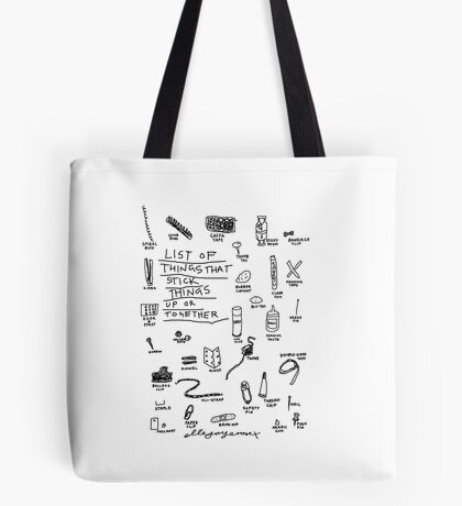 'List of Things that hold things Up or Together' Tote Bag