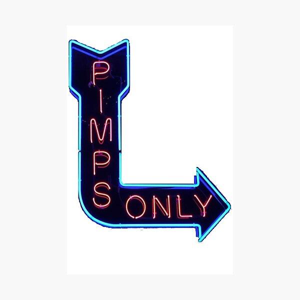 Pimps Only - Kendrick Lamar Photographic Print