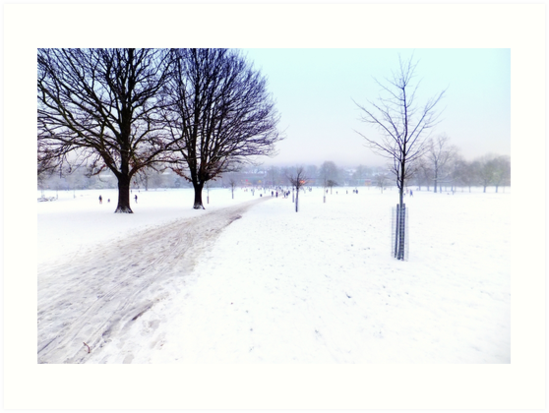 Brockwell Park Snow by Andy Broomfield