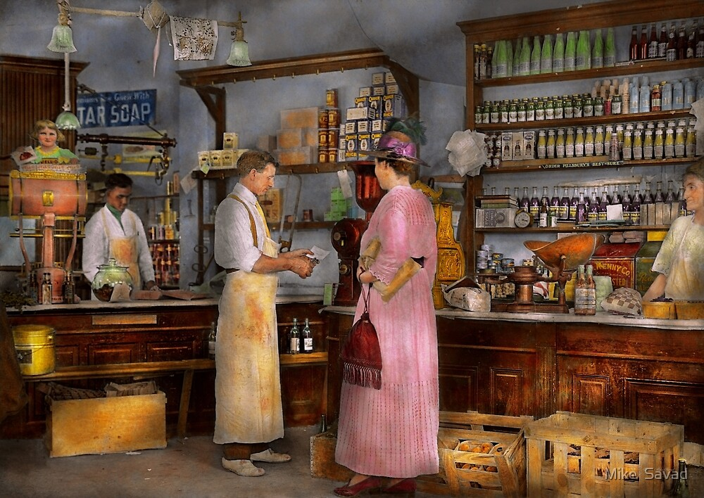 Store - In a general store 1917 by Michael Savad