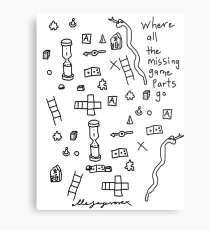 'Where all the Missing Game Parts go...' Metal Print