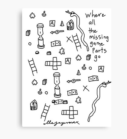 'Where all the Missing Game Parts go...' Canvas Print