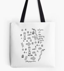 'Where all the Missing Game Parts go...' Tote Bag