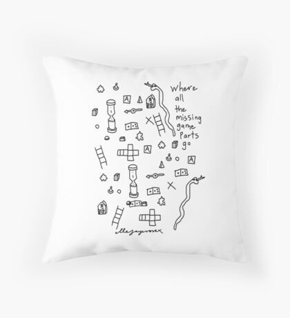 'Where all the Missing Game Parts go...' Throw Pillow