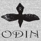 Odin Raven t-shirt by Norseman  Arts