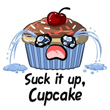 Suck it up Cupcake, the saddest crying baked good you'll ever see by ninniku