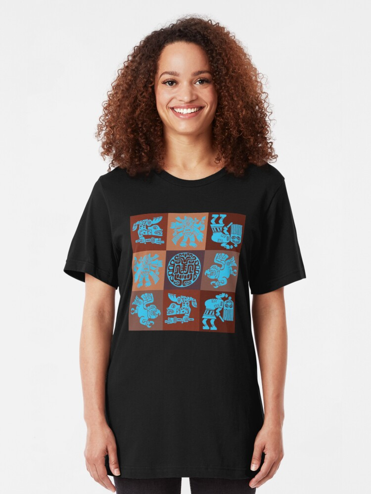 Alternate view of Inca Warriors Dance Slim Fit T-Shirt