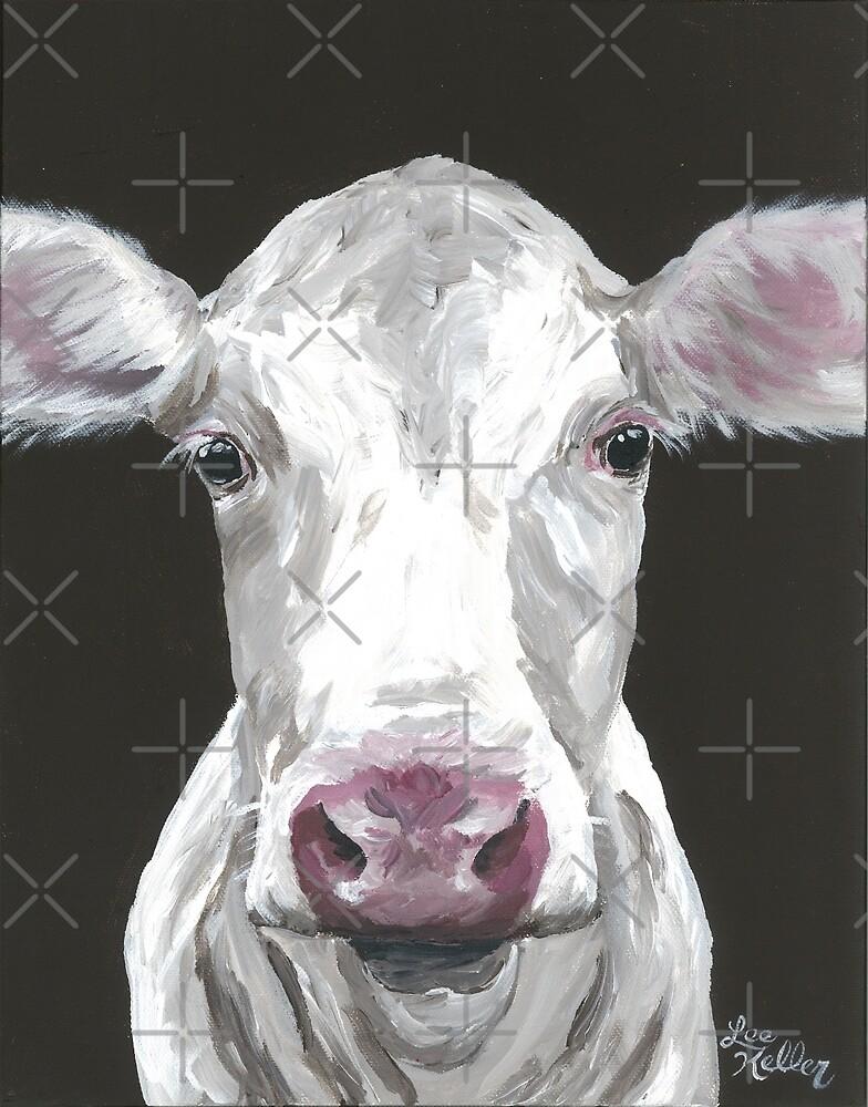 Cow Art, Print farmhouse chic art by leekellerart