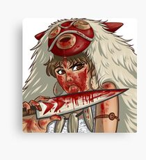 Mononoke's Bloody Knife Canvas Print