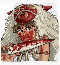Mononoke's Bloody Knife Poster