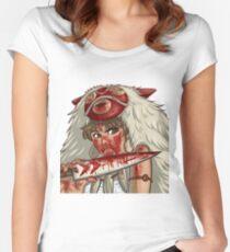 Mononoke's Bloody Knife Women's Fitted Scoop T-Shirt