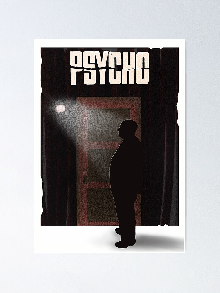 Alternate view of Hitchcock's Psycho Poster