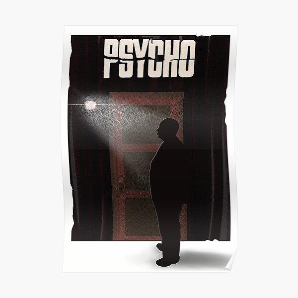 Hitchcock's Psycho Poster