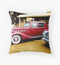 1937 Packard Super 8 Club Sedan and 1955 Packard Clipper Throw Pillow