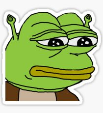 Shrek Pepe Sticker