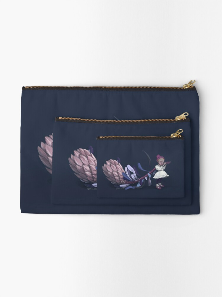 Alternate view of Protea Girl Zipper Pouch