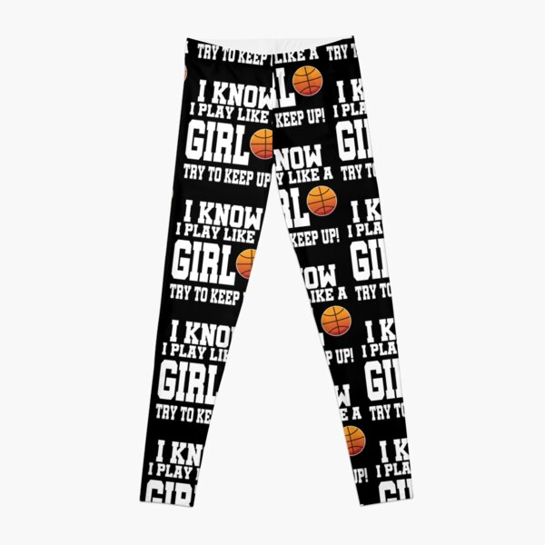 Basketball Streetball player dribbling girl Leggings