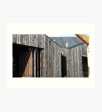Wooden shack - near Falkirk, Scotland Art Print