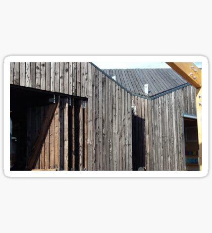 Wooden shack - near Falkirk, Scotland Sticker